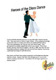 English Worksheet: Heroes of the Disco Danse