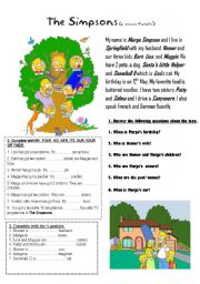English Worksheets: POSSESSIVE ADJECTIVES AND GENITIVE