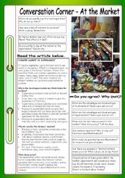 English Worksheet: Conversation Corner - At the Market