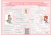 English Worksheets: Short Answers