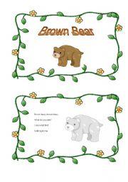 English Worksheet: Brown bear mini book