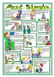 English Worksheet: PAST TENSE: IRREGULAR VERBS