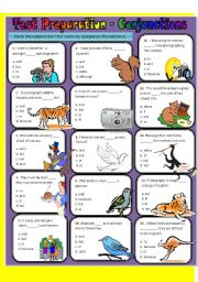 English Worksheet: CONJUNCTIONS - TEST PREPARATION