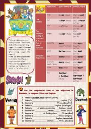 English Worksheets: COMPARISONS WITH SCOOBY DOO