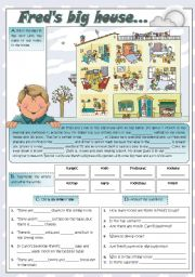 English Worksheets: FRED�S BIG HOUSE...