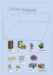 Create Your Dream Bedroom - ESL worksheet by lynetteaav