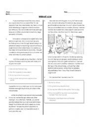 english worksheets reading passage with bloom s taxonomy questions. Black Bedroom Furniture Sets. Home Design Ideas