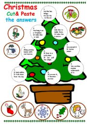 worksheet: christmas Cut and paste