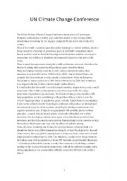 English Worksheet: worksheet on climate change