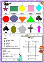 English Worksheets: Shapes