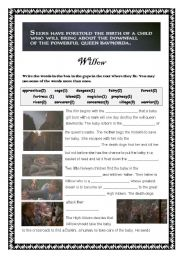 English Worksheets: Willow Synopsis