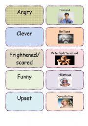 English Worksheet: Extreme adjectives dominoes