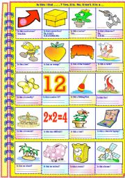 English Worksheets: Is this ...? Yes, it is. No, it isn�t. It is.....(Partially guided - with answer key)**fully editable