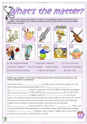 English Worksheet: What´s the matter?