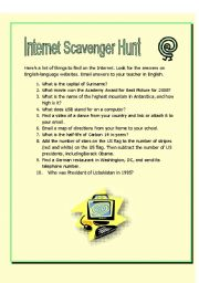 Internet Scavenger Hunt