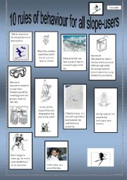 English Worksheets: 10 rules of behaviour for slope-users