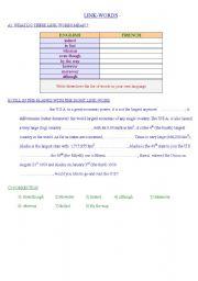 English Worksheets: LINK-WORDS