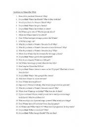 Questions on Winnie the Witch - ESL worksheet by misstammy