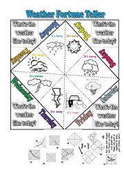 Fortune Teller (future tenses) worksheets - photo#11