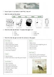 English Worksheet: Video activity -