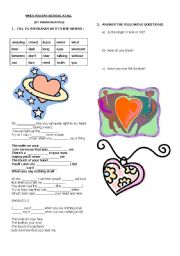 English worksheet: A LOVE SONG