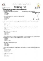 Printables The Giving Tree Worksheets english worksheet the giving tree tree