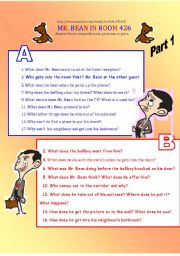 English Worksheets: Mr bean in room 426