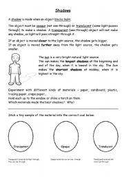 English Worksheets: Shadows