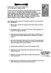 English worksheet: QUESTIONS ON THE FILM POCAHONTAS