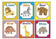 English Worksheets: ANIMALS FLASHCARDS 2/3  WILD ANIMALS (24 CARDS)