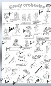 English worksheets: Crazy orchestra