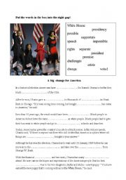 English Worksheets: The president