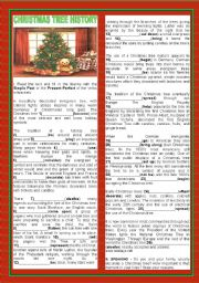 English Worksheet: CHRISTMAS TREE HISTORY