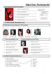 The karate kid worksheet