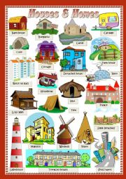 English Worksheet: HOUSES & HOMES