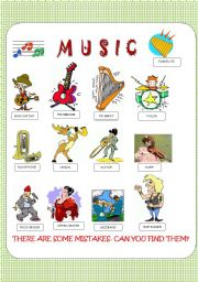 English Worksheet: VOCABULARY: MUSIC