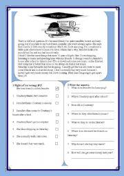 English Worksheets: What am I like?
