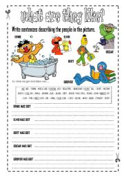 English Worksheet: Describin People Appearance - physical appearance  - FULLY EDITABLE