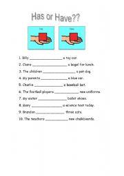 english teaching worksheets have has. Black Bedroom Furniture Sets. Home Design Ideas