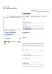 english worksheets mock facebook profile. Black Bedroom Furniture Sets. Home Design Ideas