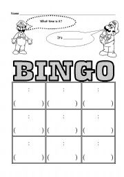 Vocabulary worksheets > Time > Time bingo