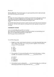 English Worksheets: Role of Social Networking Lesson