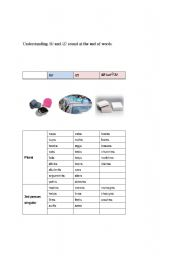 English Worksheets: Understanding /s/, /z/, and /iz/ at the end of words