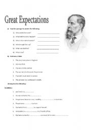 English teaching worksheets: Great Expectations