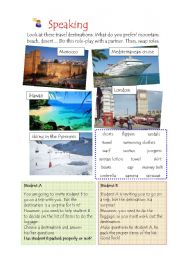 English Worksheet: Role-play. Travelling. continuous present tense