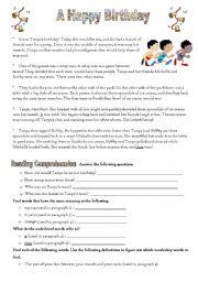 English worksheets reading comprehension worksheets page 131