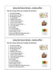 English worksheet: Future simple matching game