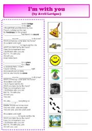 English Worksheets: I�m with you - Avril Lavigne