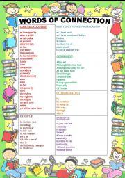 English Worksheets: Connerctors