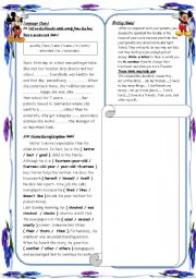 English worksheet: end of term test 1 for  9th formers part2